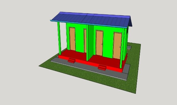 animated image of the designed school latrines