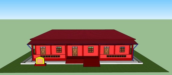 animated design of the proposed school building