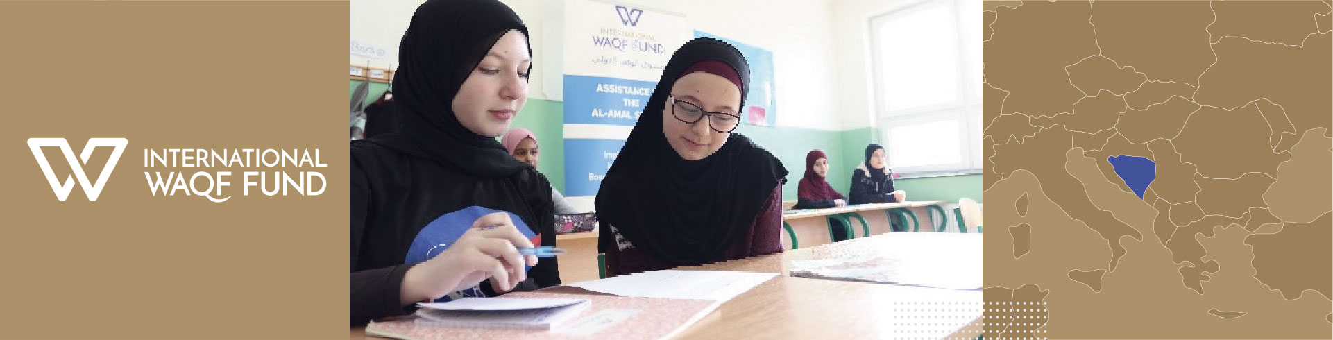 Supporting students and providing scholarships at Al-Amal school in Bosnia