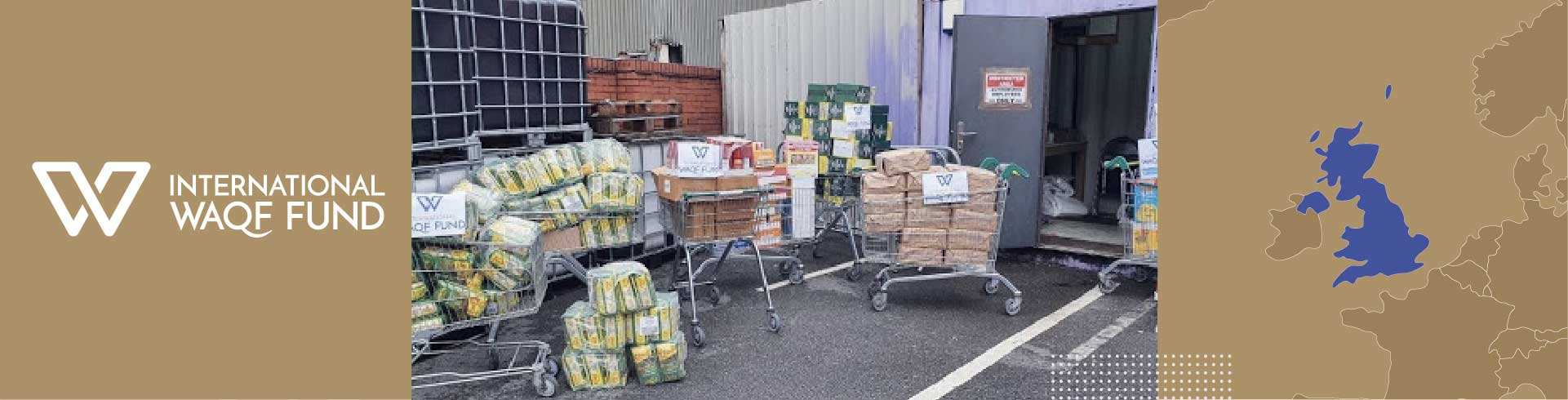 Supporting families with food packs during Covid-19